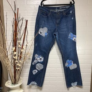 NY&C Curvy Bootcut Patchwork Jeans